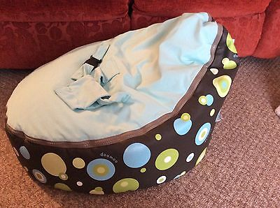 Doomoo Baby Child Seat Bean Bag,with Safty Harness,chair,toxproof,