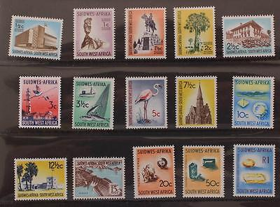 South West Africa Nambia 1961-1963 Definative Set MNH SG171-185 15v