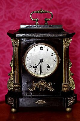 Antique German 'Junghans Wurttemberg' 8-Day Mechanical Mantel Clock with Chimes