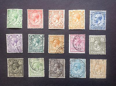 GV Definitive set to 1/- mint and fine used