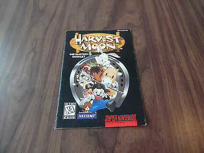 Harvest Moon (Super Nintendo, SNES) MANUAL - See pictures - Has some wear