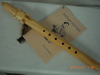 Flute, Native American, Navajo Made, Turtle Effigy, Signed
