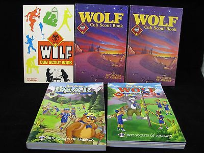 Boy Scout-5 Cub Scout Manuals Wolf 3/84,Wolf 87, Wolf 86, Bear 2011, Wolf 2011