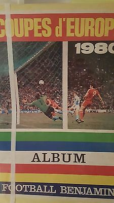 FOOTBALL BENJAMIN STICKERS (no panini) images football coupes d'europe 1980