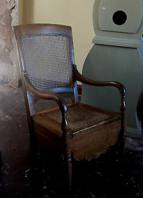 Beautiful Antique bergere commode solid oak arm chair