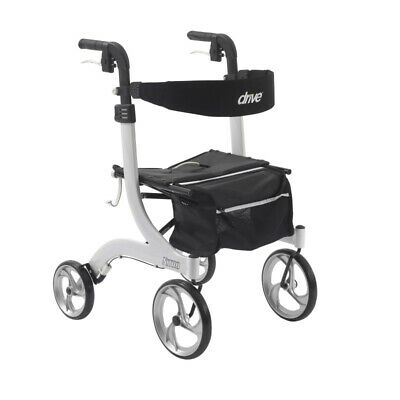 Drive Medical Nitro Euro Style Rollator Rolling Walker, White
