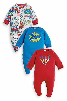 ВNWT NEXT Boys' Outfit Babygrows • Navy Sleepsuits 2pk • 100% Cotton • 6-9 Month