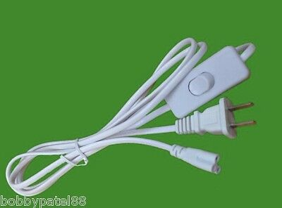 USA Plug T5 T8 T12 LED Tube Power Connector 3 Pin Pigtail AC Power Cord 6FT