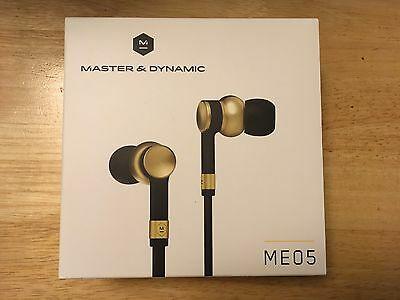 Master and Dynamic ME05 In-Ear Headphones - Brass **Brand New ** RRP-£172