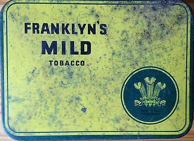 FRANKLYN'S MILD TOBACCO TIN - 1950's WITH HINGED LID
