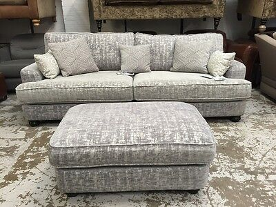 Ex Display  Ashley Manor Maggie 4 Seater Sofa+Footstool