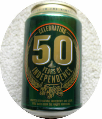 Beer Can  -  Kingdom  LESOTHO **50th Jubilee of Independence** MALUTI Beer