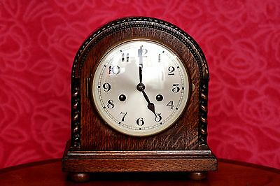 Vintage German 'Urgos' 8-Day Mantel Clock with Chimes