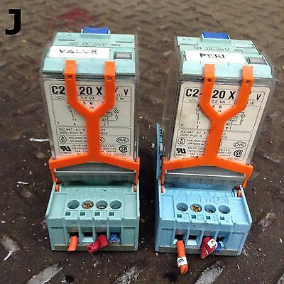 Releco C2-A20X 8-Pin Octal Relay 120VAC 10A 60Hz 24VDC- Lot of 2