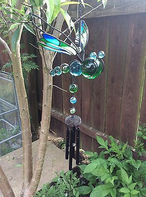 Large  Dragonfly Windchime, Hand crafted, 85CM  Garden, Patio, conservatory