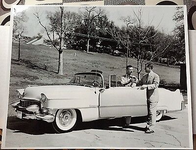 Early Grand Ole Opry Star HANK SNOW Convertible Car Photo 11x14