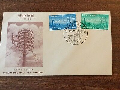 India FDC 1953. posts and telegraphs