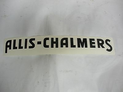 Allis Chalmers Decal Black 1 1/4 x 12  NEW. FREE SHIPPING
