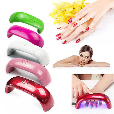 Professional 9W Rainbow UV LED Nail Lamp Dryer Light for Gel Polish Nail Art New