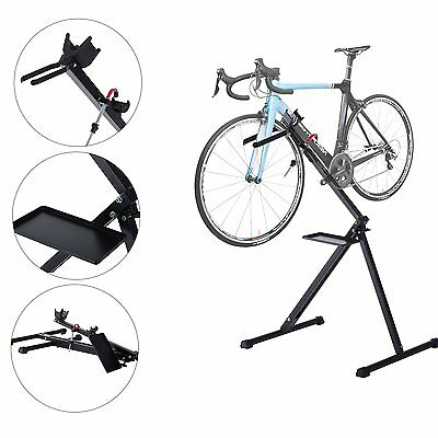 HOMCOM Folding Bike Cycle Bicycle Repair Stand Adjustable Maintenance Work Stand