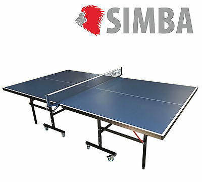 Table Tennis Table Compact Indoor high quality - Blue ping pong mod. ROBY