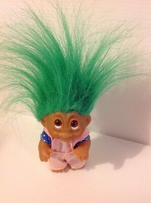 Vintage Dam Small Girl Troll With Green Hair