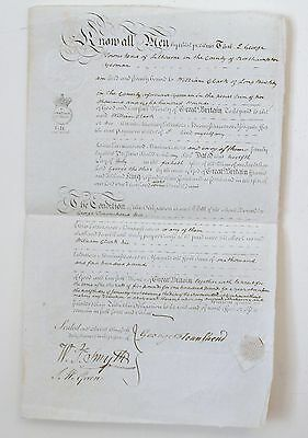 Antique manuscript.loan agreement ..12 july 1800..Townshend to Clark