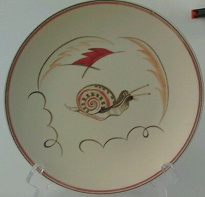 Poole Pottery Plate 1950s Hand Decorated Sea Snail  Design