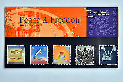 Royal Mail - Peace & Freedom Stamp set - Mint Postage Stamps (Great Britain)
