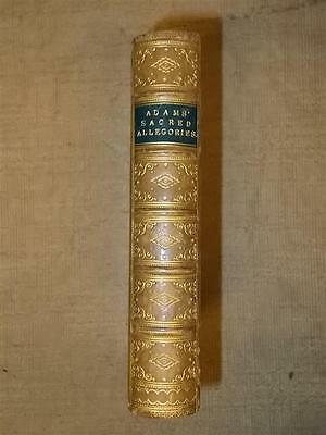 William Adams Fine Leather Prize  Binding Sacred Allegories 1880 Illustrated