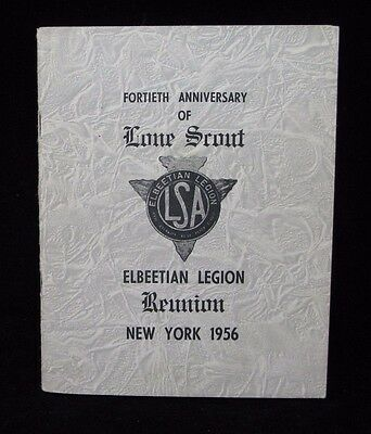 Boy Scout-50 page Lone Scout 1956 Elbeetian Legion Reunion Booklet New York City