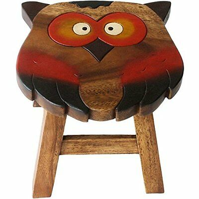 Wooden Owl Stool by Something Different ST33915