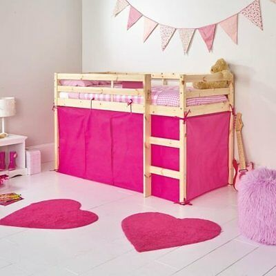 Bright Pink Tent For Shorty Mid Sleeper Bed Pink Girls Bedroom Toys Games