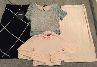 Boohoo Missguided Clothing Bundle Skirt Top Size 6 - 8