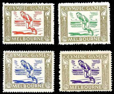 Poster Stamp - Olympics - 1956 Melbourne - DuBois #31a - 31d - Set of 4