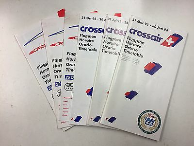 CROSSAIR Timetables 1991-1996 (6 editions)