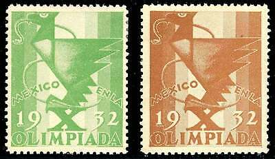 Poster Stamp - Olympics - 1932 Los Angeles - DuBois #24a + 24b