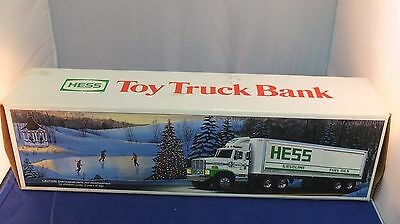 1987 Hess Toy Truck Bank MADE IN HONG KONG.