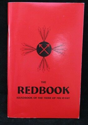 Boy Scout-Mic-O-Say Handbook-1999 Pony Express Council Red Book-77 pages
