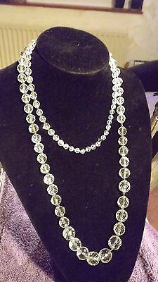 Beautiful long and heavy Crystal necklace