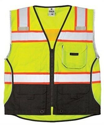 ML Kishigo 1515-L Black Series Vest Class 2 Lime L