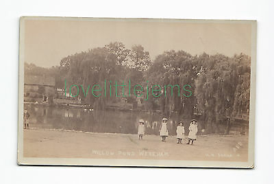 c1905 RPPC Willow Pond Wereham HR Series rubber date stamp Norfolk