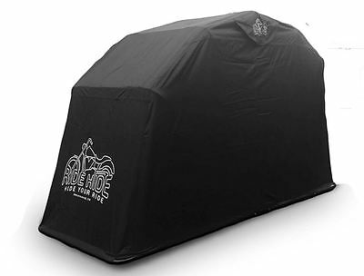 Waterproof Motorcycle Shelter Heavy Duty Bike Cover Fully Vented Protection UK
