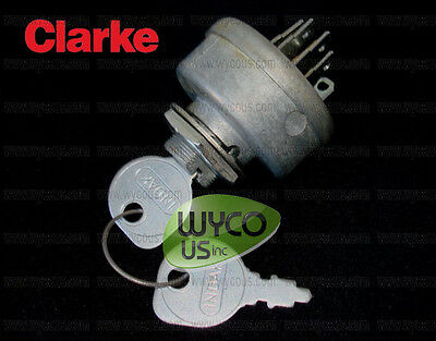 Ignition Switch With Keys, 6 Prongs, Clarke Pbu Propane Burnishers, 98703B, 21I