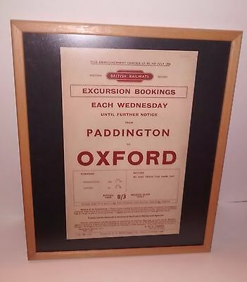 British Railways poster print, excursions London to Oxford, 1957