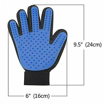 UK Pet Bath Brush Glove Silicone True Touch Grooming Shedding Hair Cleanup