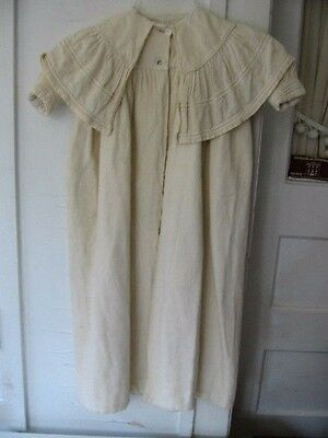 VINTAGE ANTIQUE 1890-1900s CHILD'S VICTORIAN IVORY LINED CHRISTENING CAPE COAT