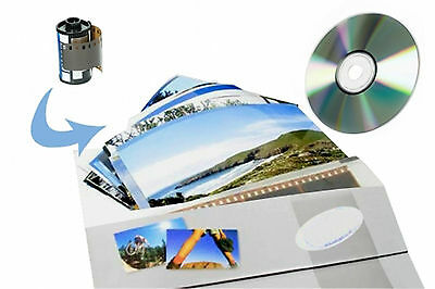 """35mm FILM DEVELOPING and PRINTING + CD  - Negatives and 6x4"""" Photo Prints + CD"""