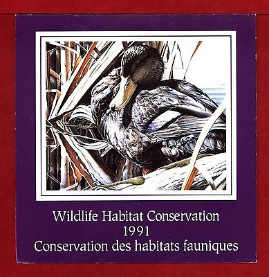 FEDERAL WILDLIFE 1991 MNH SIGNED FWH7d BLACK DUCK BY CHRIS BACON