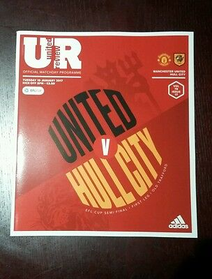 Manchester United FC v Hull City 10/1/2017 Official Programme BN Mint